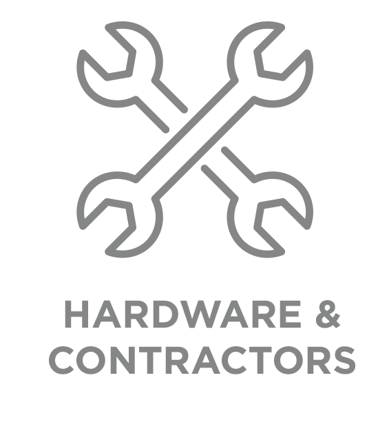 hardware and contractor type button