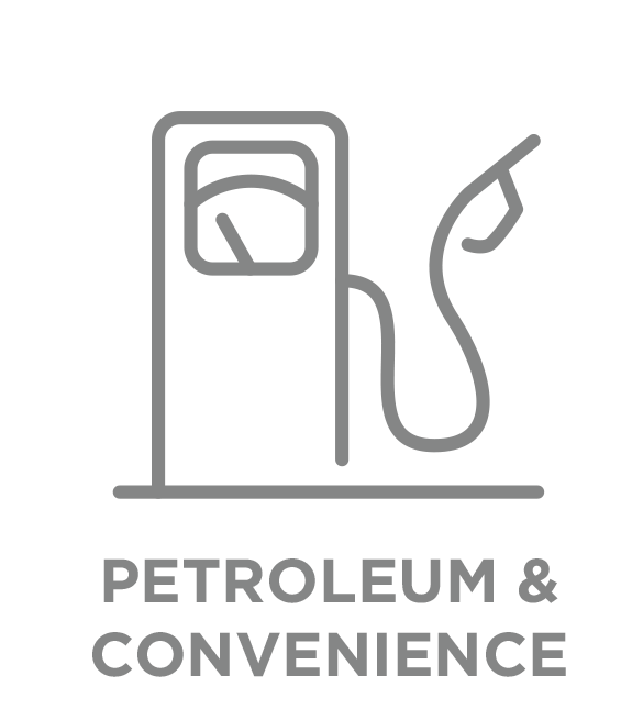 petroleum and convenience type button