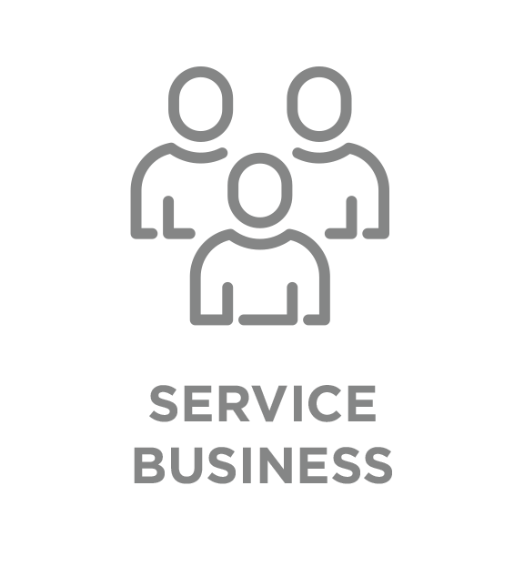 service business type button